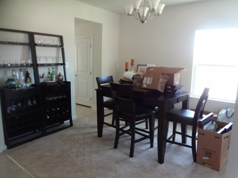 Heres A Peak At What These Two Rooms Looked Like When We Moved In Four Years Ago All Their Builder Grade Glory