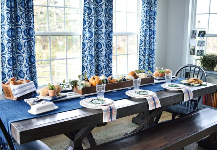 A Warm and Colorful Thanksgiving Table