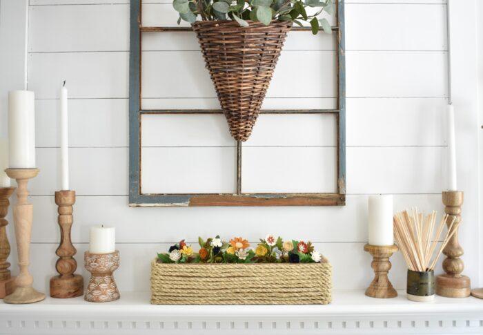 DIY Rope Covered Flower Box