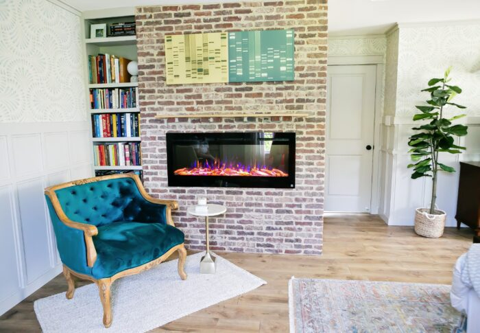 How to Build a DIY Electric Brick Fireplace