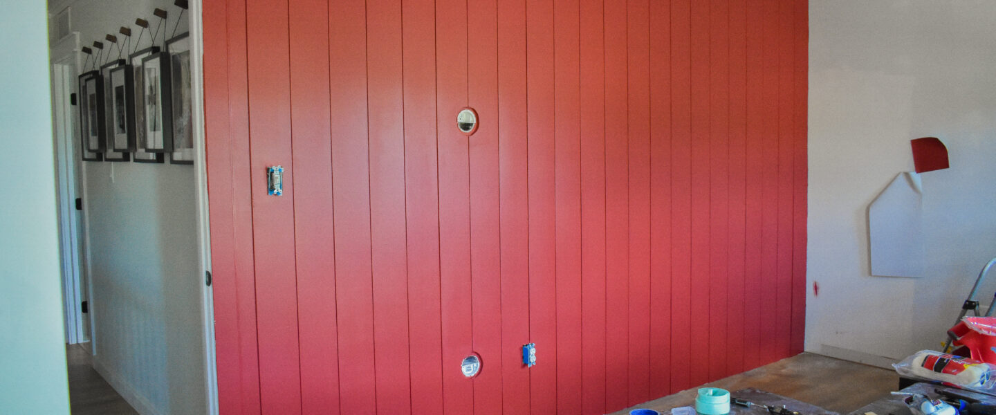 One Room Challenge Week Three – Or How I learned to love a Red Wall