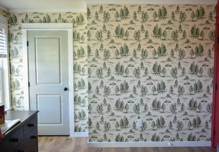 One Room Challenge Week Four – Wallpapering is a Family Affair